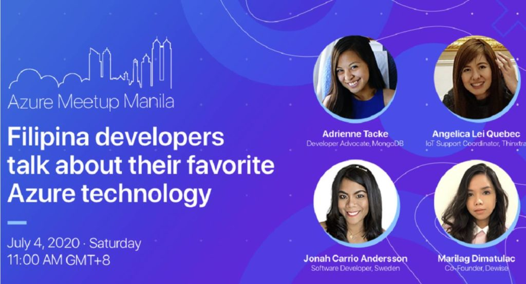 Filipina Developers talking about Azure