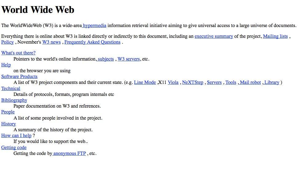 The first website written in 1992