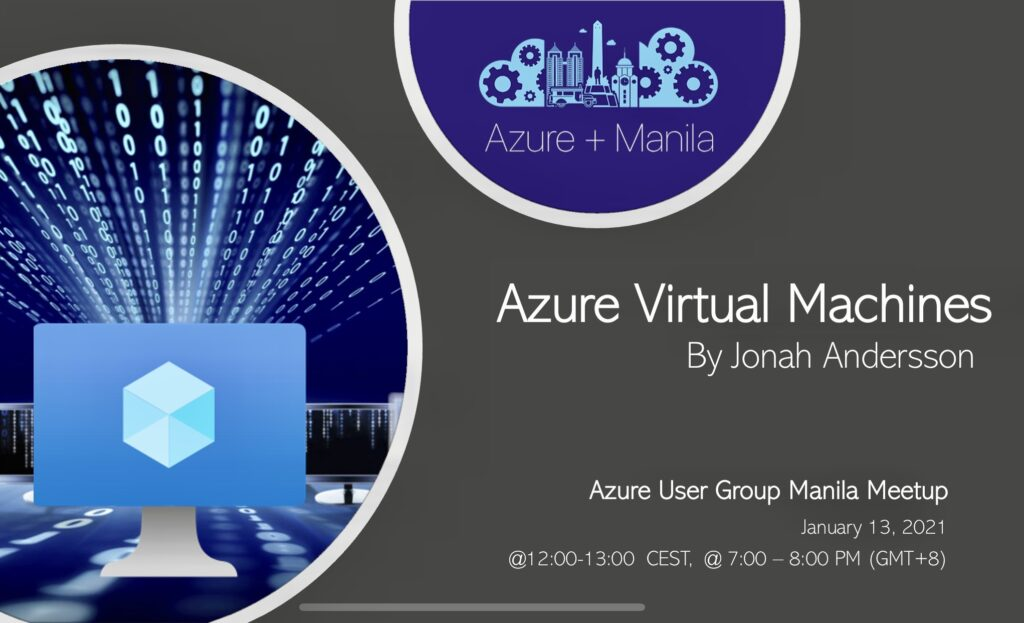Azure Virtual Machine Tech Talk by Jonah Andersson